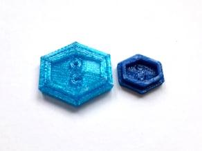 Button hexagon 2 - Knopf Sechseck 2