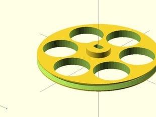 Maze mouse wheel for 28BYJ-48 stepper motor