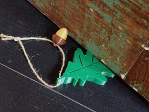 Oak Leaf and Acorn Door Stop