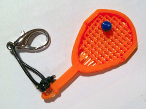 Racquetball Racquet Keyfob