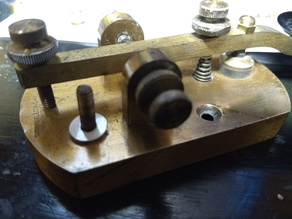 Insulator for Morse Code Key