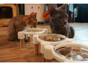 IKEA bowl stand for cats