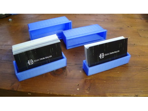 Business card travel holder / display