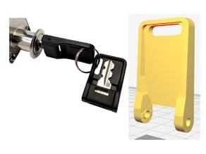Folding key holder