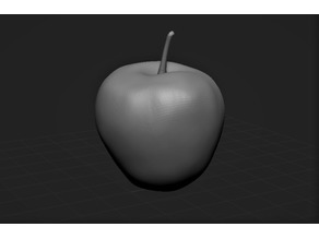 Apple with stalk