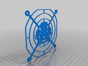 Kraken style 120mm pc fan cover