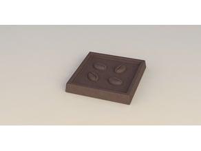 Coffee bean chocolate bar cube
