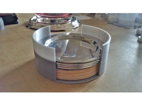 glass coasters container