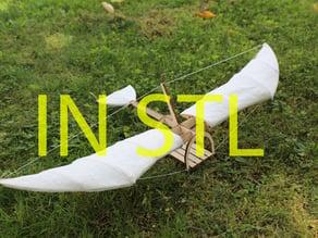 Leonardo da Vinci inspired glider in stl