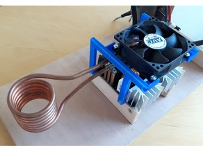 Cooling fan mounting for 1000W ZVS Induction Heating