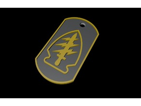 US Special Forces DogTag - Keychain