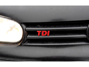 VW Golf IV TDI front grill badge logo