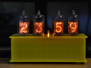 3D housing for a Nixie Clock (www.circuitsonline.net)