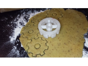 Steampunk Gear Cookie Cutter