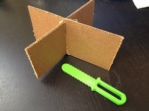 Cardboard Slot saw