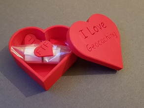 Geocaching Heart Box for Valentines Day