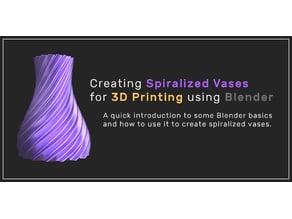 Creating Spiralized Vases using Blender