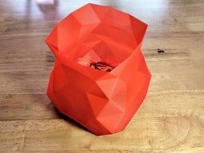 Printer Trash Crystal Vase