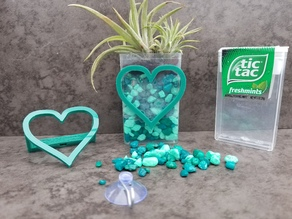 Tic Tac Mini Planter (Heart)