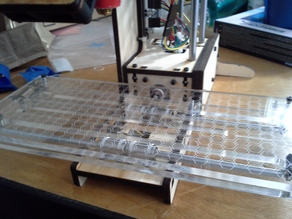 Printrbot XL laser cut and etched acrylic platform