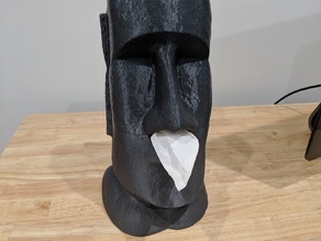 Moai Tissue Dispenser - split for printing
