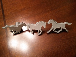 Running Horses Craft Stamp