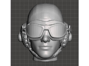 USAAF Pilot Head (Unmasked)