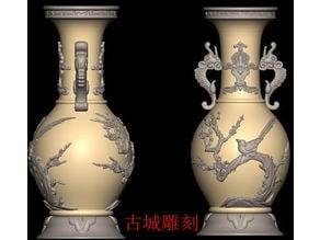 Classic Chinese fish-bird vase