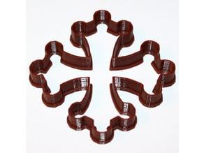 Occitan cross cookie cutter / Cookie cutter croix Occitane