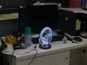 Lamp 3d Acrylic engraving