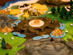 Catan Brick Tiles - Warcraft Inspired