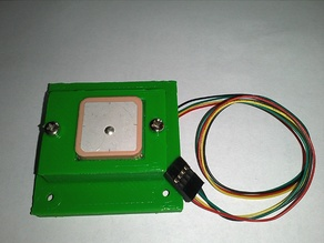 Quadrocopter Coverplate with GPS housing