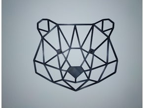 Low Poly Bear Head