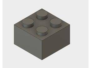 Fusion 360 2x2 Lego Block Generator