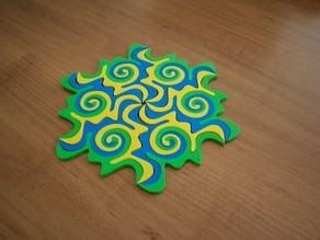 Twisted Escher Tessellation Puzzle