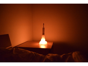Low poly Falcon Heavy night light