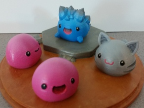 Slime Rancher - Pink Slime, Tabby Slime and Rock Slime