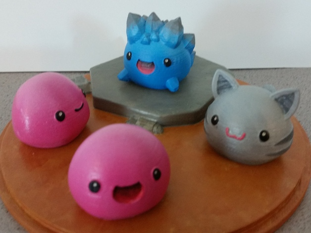 Slime Rancher - Pink Slime, Tabby Slime and Rock Slime by