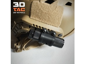 3DTAC / Airsoft Helmet Rail Flashlight Adapter