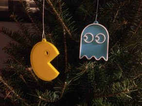 Pacman & Ghost Ornaments