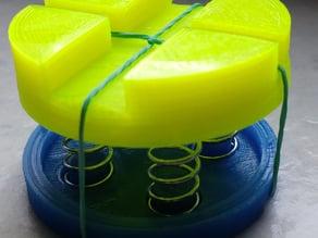 Spring based anti-vibration feet / shock absorber for Mendel90