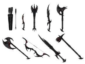 Skyrims Daedric Weapons