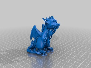 A simple Dragon Sculpture I created with Sculptris.