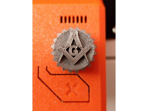 Square and Compass 6mm Knob for Prusa MK3S