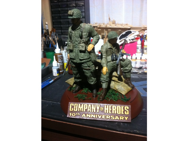 picture about Printable Diorama referred to as Small business of Heroes 10th Anniversary 3D-printable Diorama as a result of