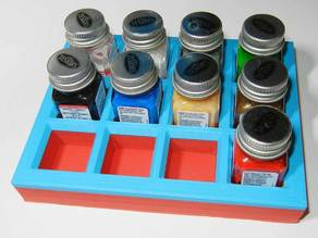 Testors paint bottle holder