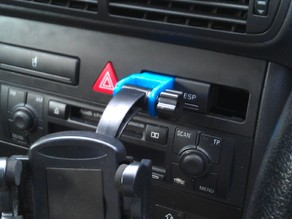 Car phone mounting bracket