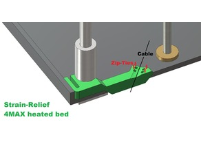 Strain relief heated bed-cable AnyCubic 4MAX