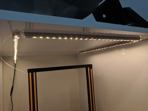 Led strip wall mounts