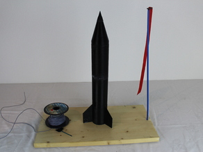 3d Printed Rocket with Rocket engine